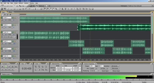 Adobe Audition Multitrack View