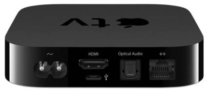 Rear view of Apple TV Box