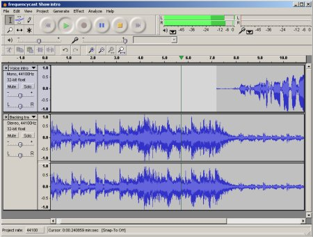 Using Audacity for recording and editing voice