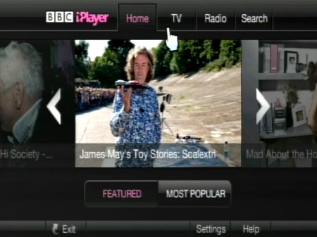 BBC iPlayer on the Nintendo Wii