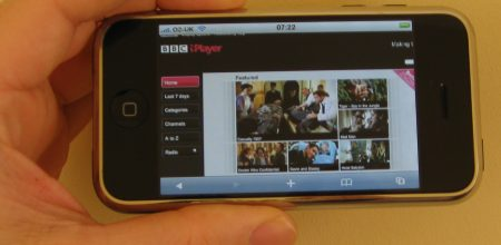BBC iPlayer on the Apple iPhone