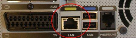 BT Vision V+ Box Ethernet socket
