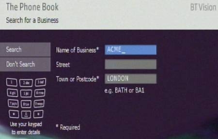 BT Phone Book Lookup