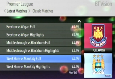 BT Vision Sport Screenshot