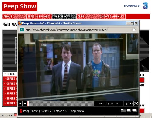 Channel 4 4oD on a PC
