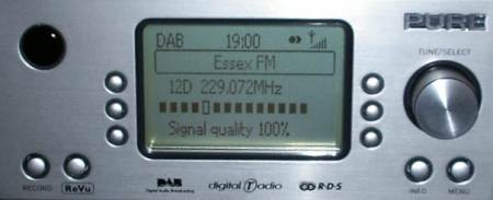 DMX-50 DAB screen