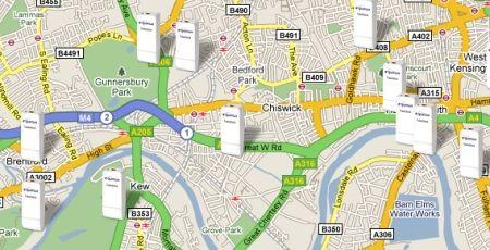 Lots of little Tubesticks all over London