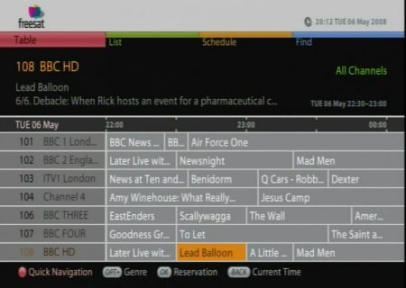 Freesat EPG