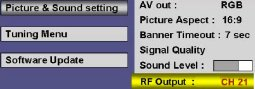 Panasonic TUCT20 tuning screen