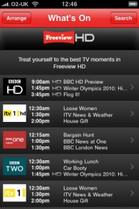 Freeview HD for iPhone