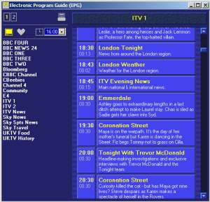 Freeview EPG