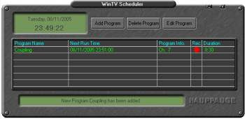 Recording with WinTV