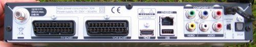 Humax FoxSat Rear
