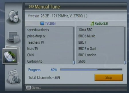 Non-Freesat channels on a Humax