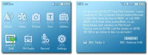 iAudio touchscreen