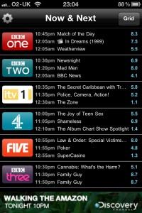tv listings. tv plus on iphone tv listings