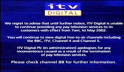 ITV Digital closes