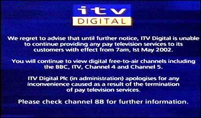 ITV Digital closes