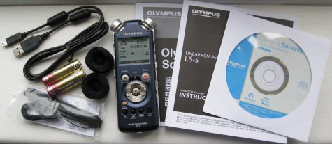 Olympus LS-5 Box Contents