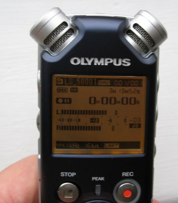 Olympus LS-5 Mics