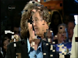 Digital TV Pixelation Example