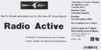 Radio Active Ticket