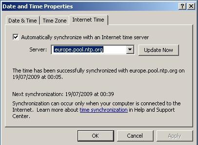 Windows Date & Time