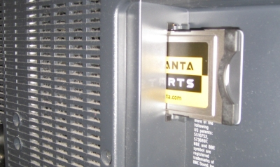 Setanta card in TV set