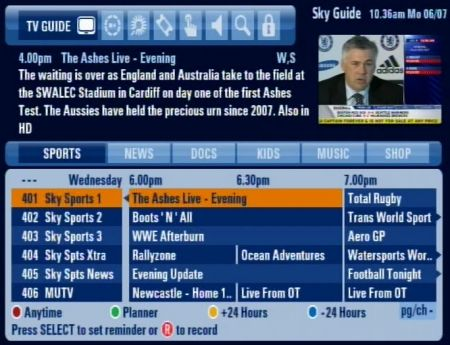 sky sports tv guide uk