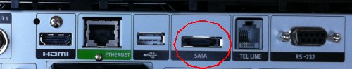 Sky Box SATA connector