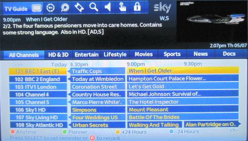 New-look Sky+ Guide Rolls Out | Radio & Telly UK