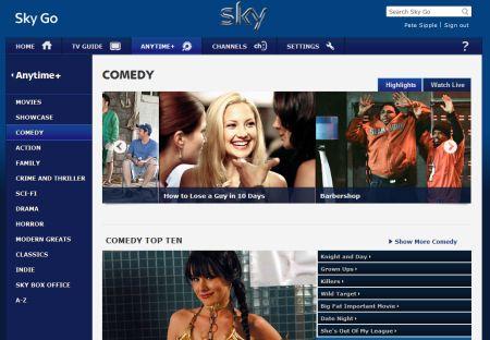 Comedy Movies on Sky Go