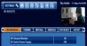 Sky HD installer menu