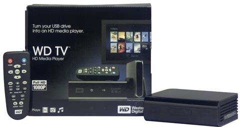 WD TV HD - Unit and Box