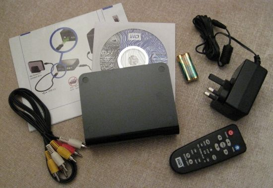 WD TV HD Player Box Contents